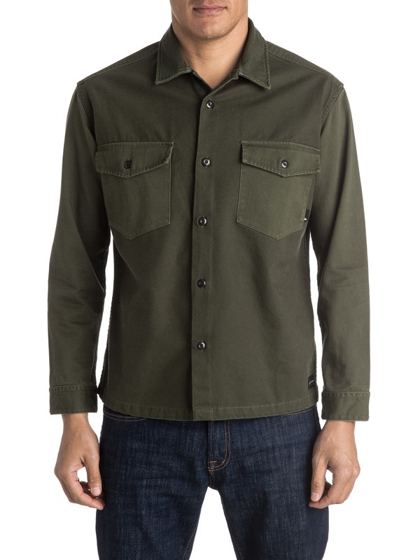 0 Counter Fire Long Sleeve Overshirt  EQYWT03353 Quiksilver