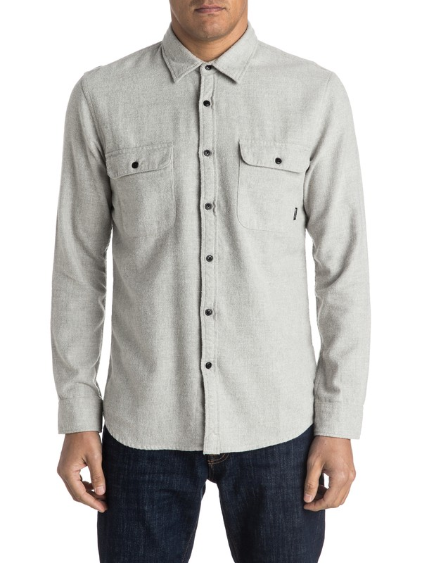 0 The Captaincy Flannel Long Sleeve Shirt  EQYWT03362 Quiksilver