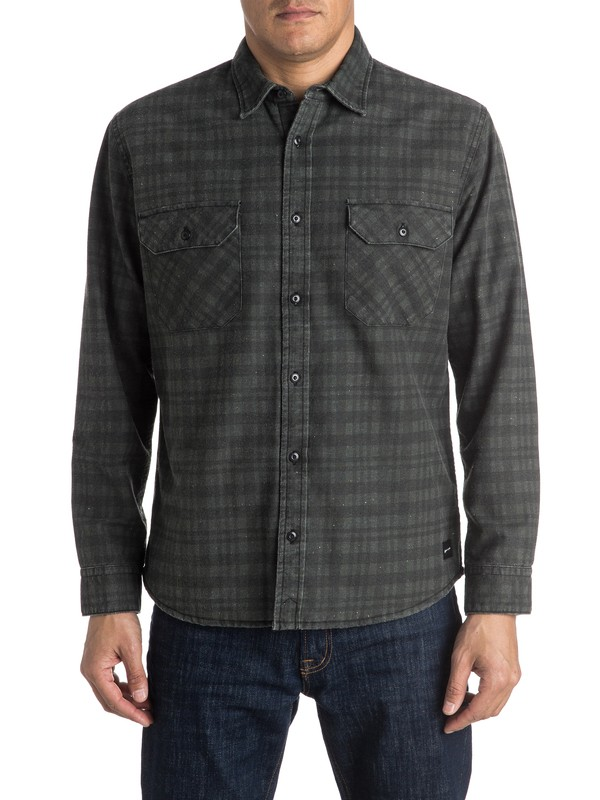 0 Young Winner Flannel Long Sleeve Overshirt  EQYWT03364 Quiksilver