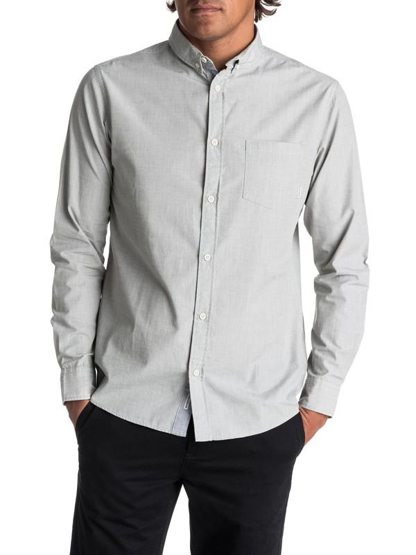 0 Everyday Wilsden Long Sleeve Shirt Green EQYWT03378 Quiksilver