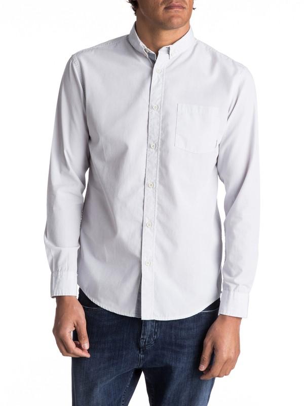 0 Everyday Wilsden Long Sleeve Shirt Grey EQYWT03378 Quiksilver