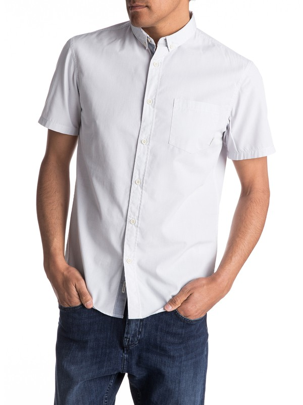 0 Everyday Wilsden Short Sleeve Shirt Grey EQYWT03379 Quiksilver