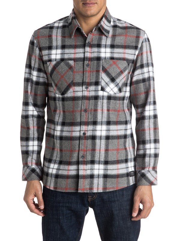 0 Fitzthrower Flannel Long Sleeve Shirt  EQYWT03380 Quiksilver