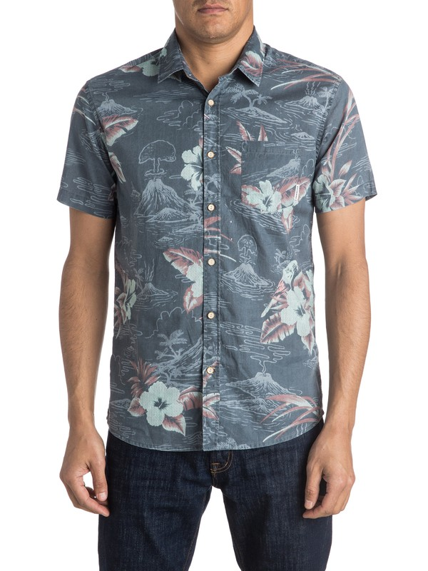 0 Parrot Jungle Short Sleeve Shirt  EQYWT03384 Quiksilver