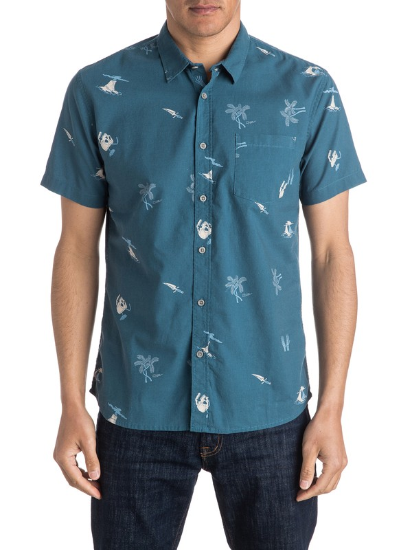 0 Spinning Island - Short Sleeve Shirt  EQYWT03408 Quiksilver
