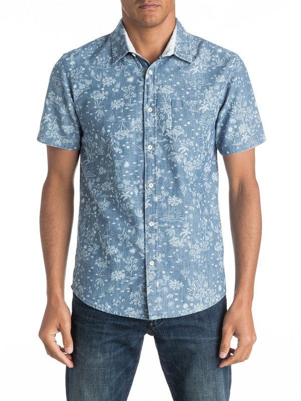 0 Bloom Field Diver Short Sleeve Shirt  EQYWT03443 Quiksilver