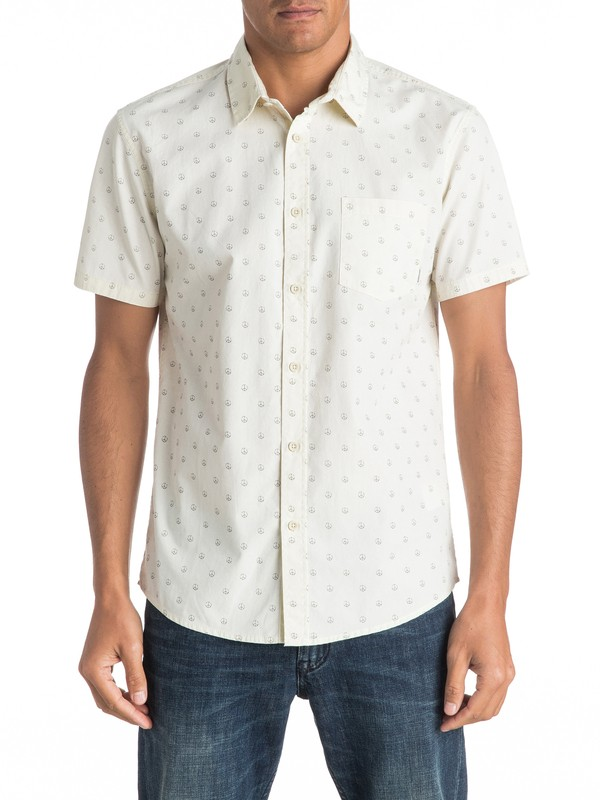 0 Everyday Motif Short Sleeve Shirt  EQYWT03446 Quiksilver