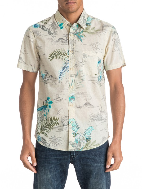 0 Channels Bruz Short Sleeve Shirt  EQYWT03447 Quiksilver