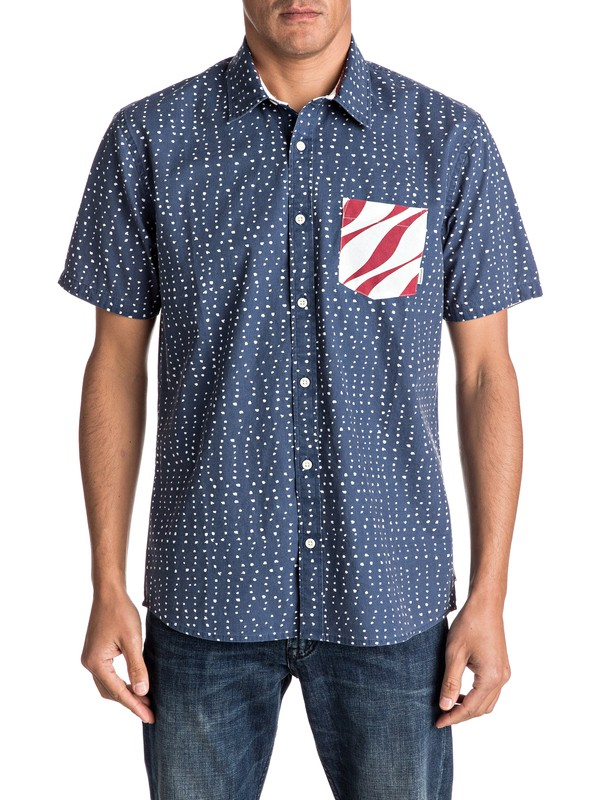 0 New Merica Short Sleeve Shirt  EQYWT03500 Quiksilver