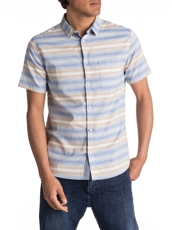 0 Aventail Update Short Sleeve Shirt Blue EQYWT03528 Quiksilver
