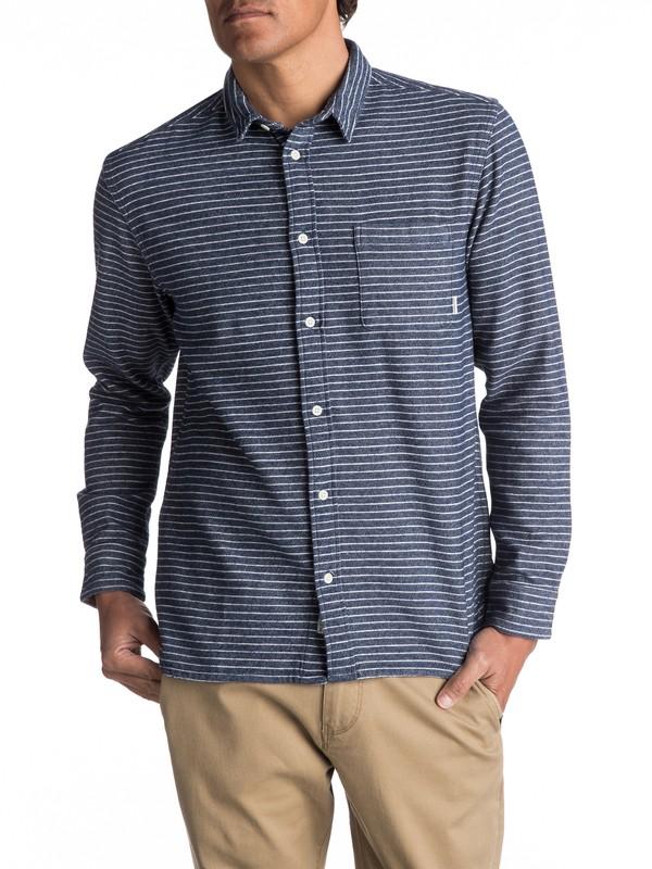 0 Crossed Tide Flannel Long Sleeve Shirt Blue EQYWT03529 Quiksilver