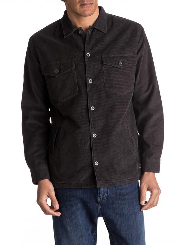 0 Storm Petrel Long Sleeve Over Shirt Black EQYWT03530 Quiksilver