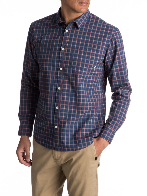 0 Everyday Check Long Sleeve Shirt  EQYWT03531 Quiksilver