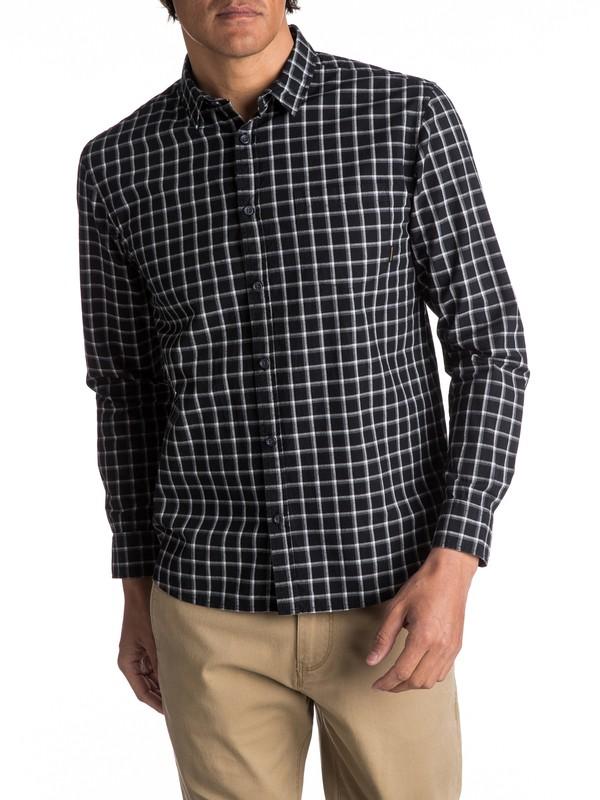 0 Everyday Check Long Sleeve Shirt Black EQYWT03531 Quiksilver
