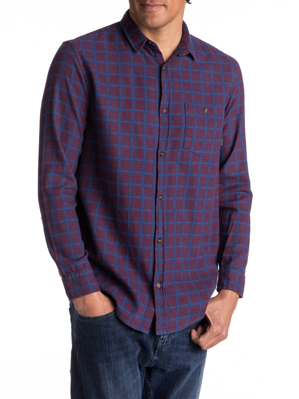 0 Phaser Setting Flannel Long Sleeve Shirt  EQYWT03539 Quiksilver