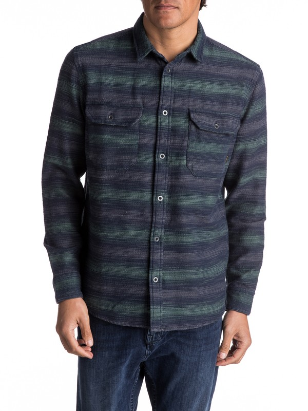 0 Dusky Town Flannel - Long Sleeve Over Shirt  EQYWT03541 Quiksilver