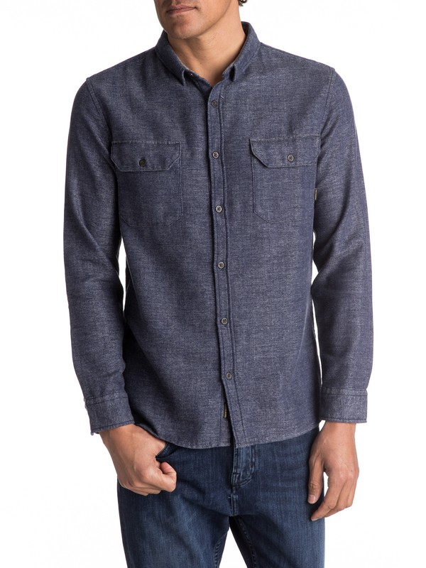 0 Double Jungle Long Sleeve Shirt Blue EQYWT03559 Quiksilver