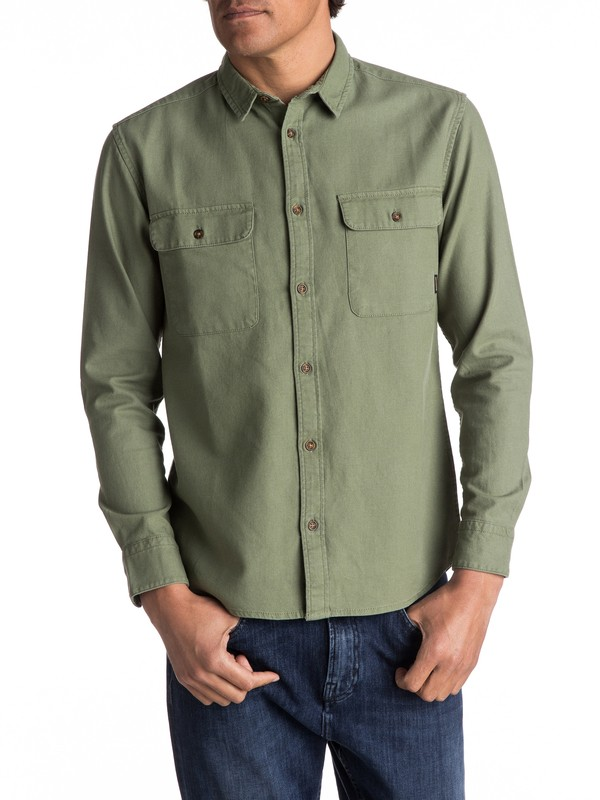 0 Jacana Rips Long Sleeve Shirt Green EQYWT03560 Quiksilver