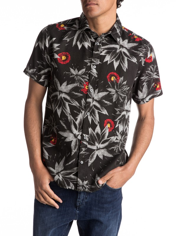 0 Agave Short Sleeve Shirt Black EQYWT03563 Quiksilver