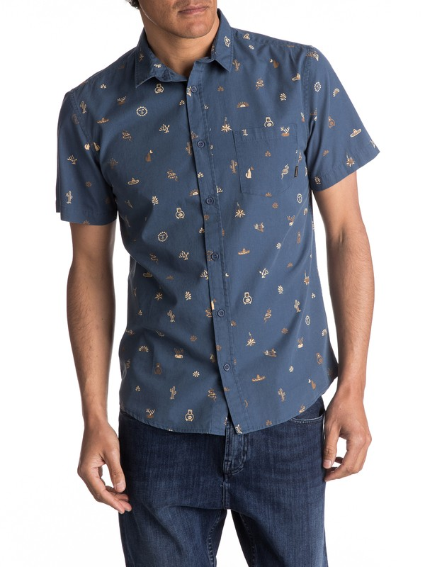 0 Baja Moment Mini Motif Short Sleeve Shirt  EQYWT03566 Quiksilver