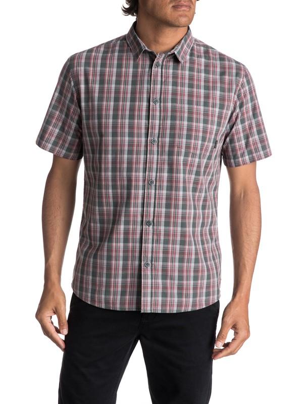 0 Men's Tidal Brinx Short Sleeve Shirt Brown EQYWT03604 Quiksilver