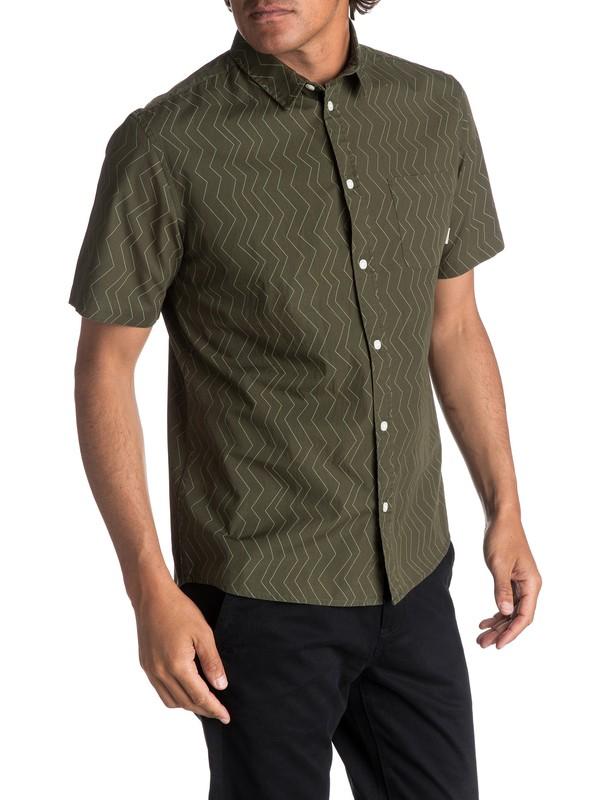 0 Men's Variable Short Sleeve Shirt Green EQYWT03609 Quiksilver