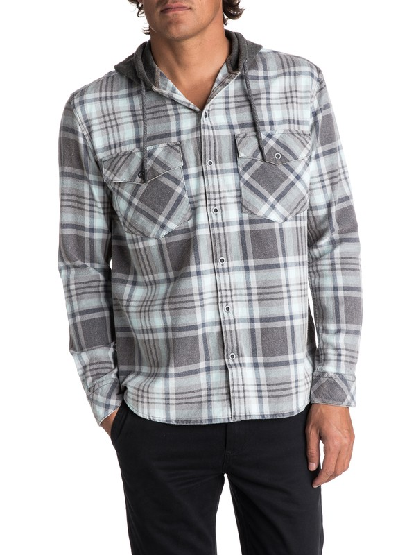 0 Men's Tang Hooded Long Sleeve Shirt  EQYWT03614 Quiksilver