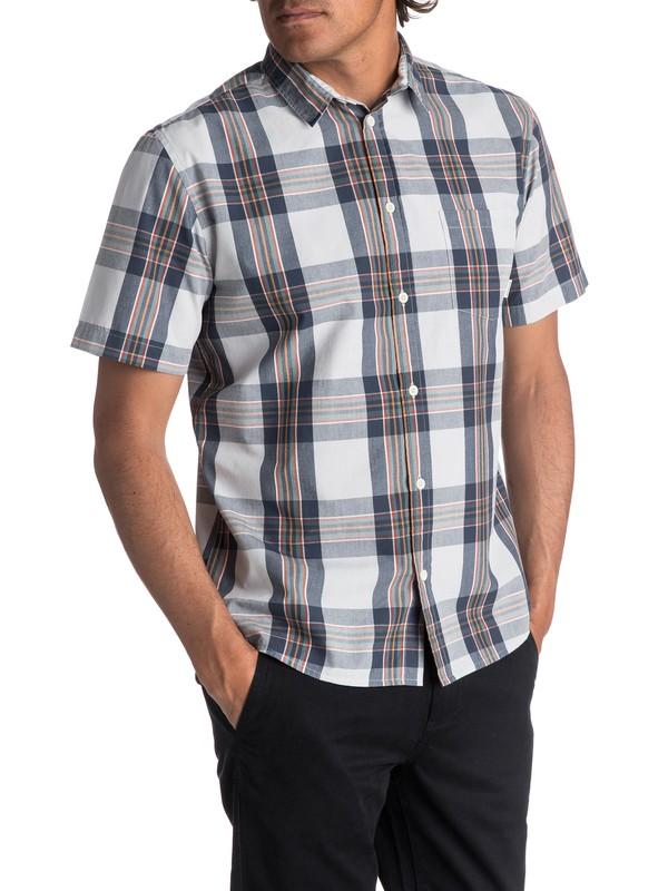0 Men's Tidal Ridge Short Sleeve Shirt Grey EQYWT03617 Quiksilver