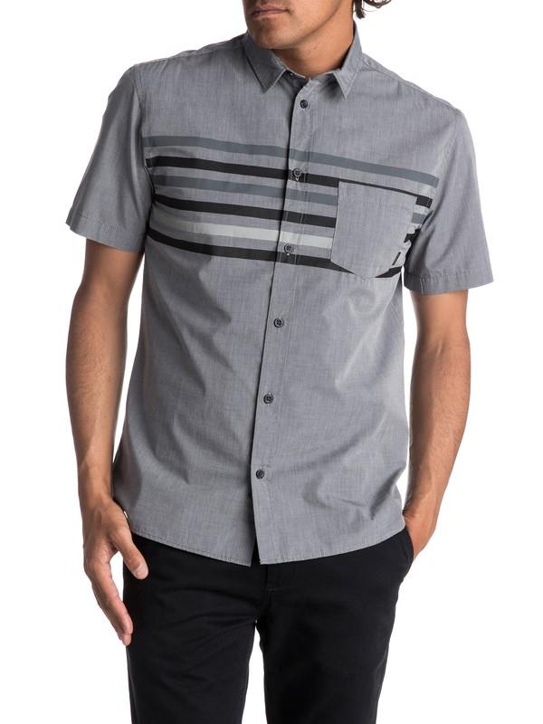 0 Men's Popline Short Sleeve Shirt Black EQYWT03621 Quiksilver