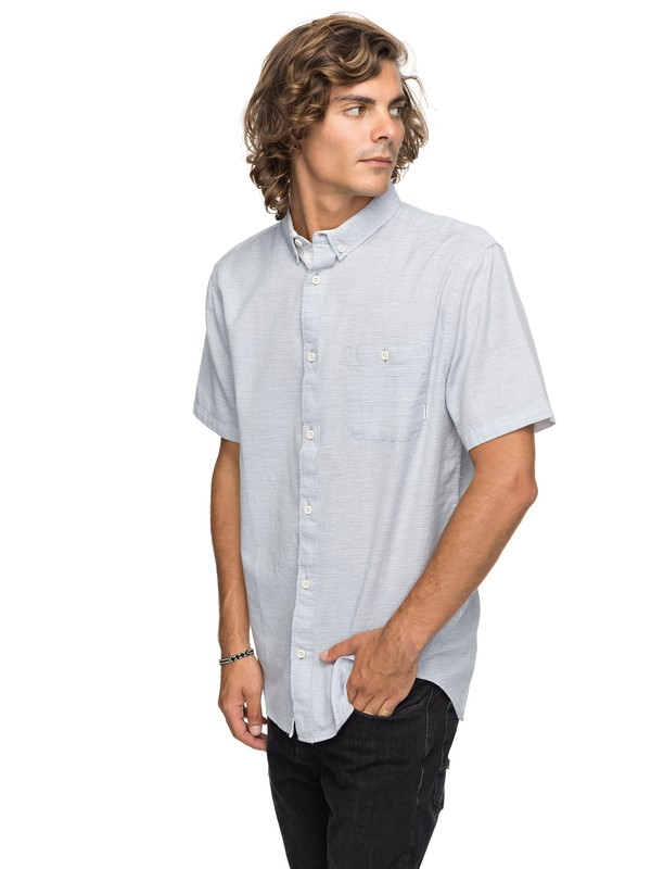 0 Waterfalls Update - Camisa de Manga Corta para Hombre Azul EQYWT03629 Quiksilver