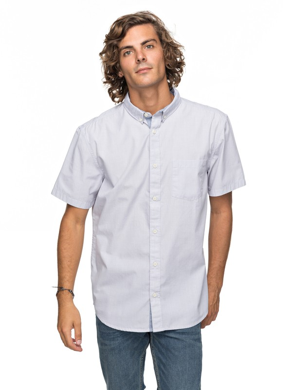 0 Valley Groove Short Sleeve Shirt Grey EQYWT03631 Quiksilver