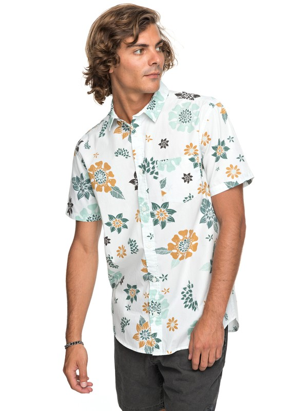 0 Sunset Floral - Short Sleeve Shirt for Men White EQYWT03634 Quiksilver