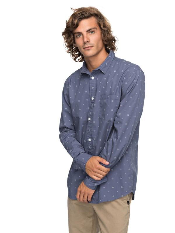 0 Kamanoa - Camisa de Manga Larga para Hombre Azul EQYWT03635 Quiksilver