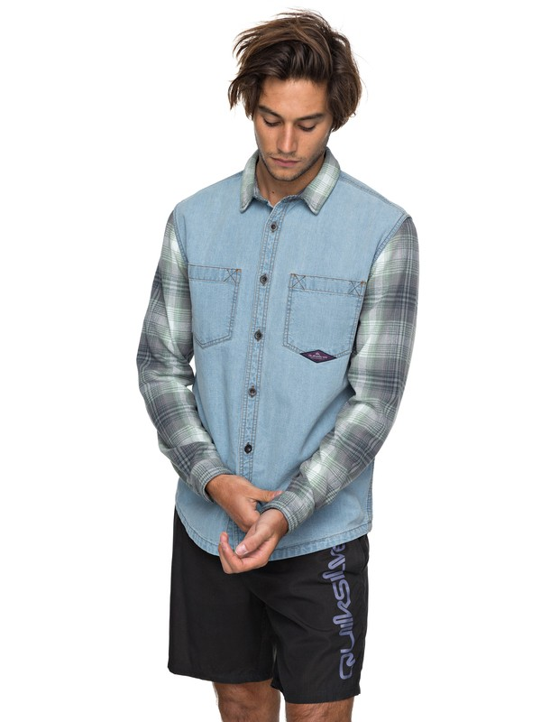0 Dumb & Surfer - Langarm-Hemd für Männer Blau EQYWT03640 Quiksilver