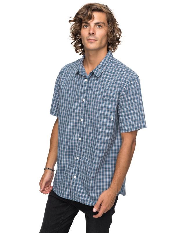0 Sun Rythm Short Sleeve Shirt Blue EQYWT03643 Quiksilver