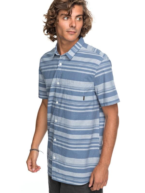 0 Good Wall - Short Sleeve Shirt Blue EQYWT03645 Quiksilver