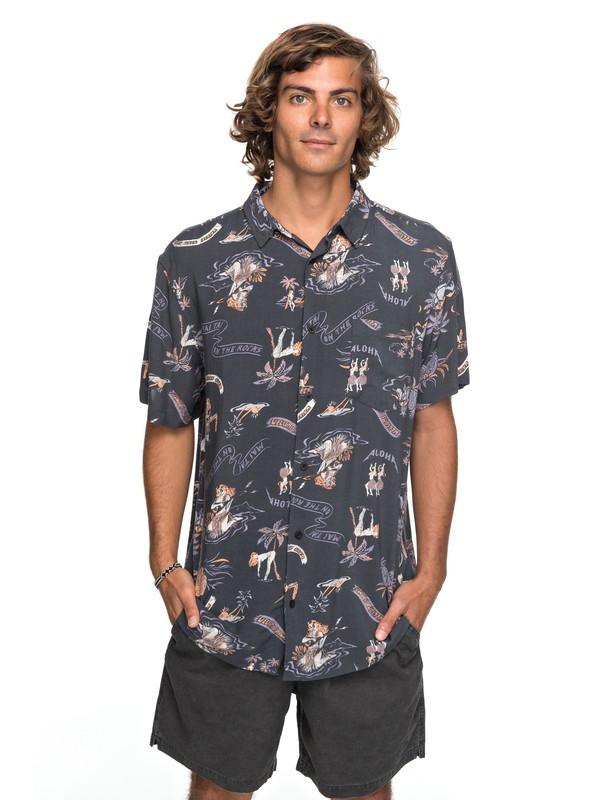 0 Aloha Strip Club Short Sleeve Shirt  EQYWT03646 Quiksilver