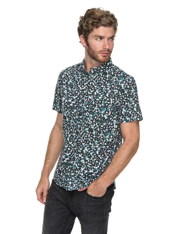 0 Quiksilver - Short Sleeve Shirt for Men Green EQYWT03647 Quiksilver