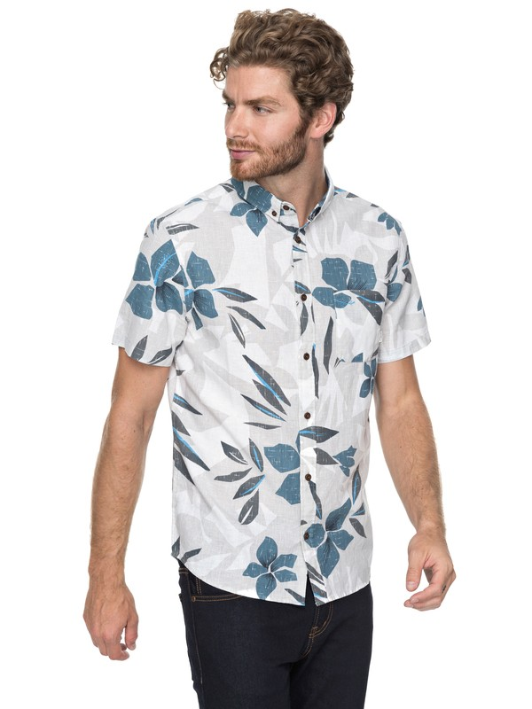 0 Quiksilver - Short Sleeve Shirt for Men Grey EQYWT03647 Quiksilver