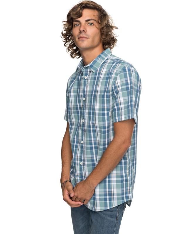 0 Everyday Check Short Sleeve Shirt Blue EQYWT03658 Quiksilver
