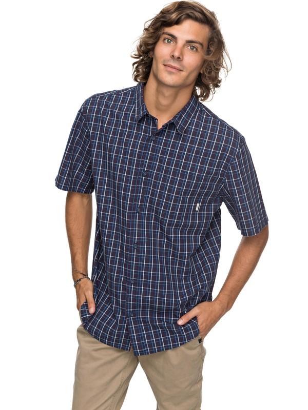 0 Moon Rythm Short Sleeve Shirt Blue EQYWT03667 Quiksilver