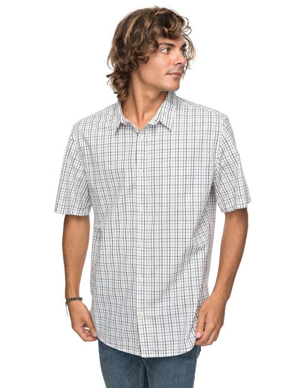 0 Moon Rythm Short Sleeve Shirt White EQYWT03667 Quiksilver