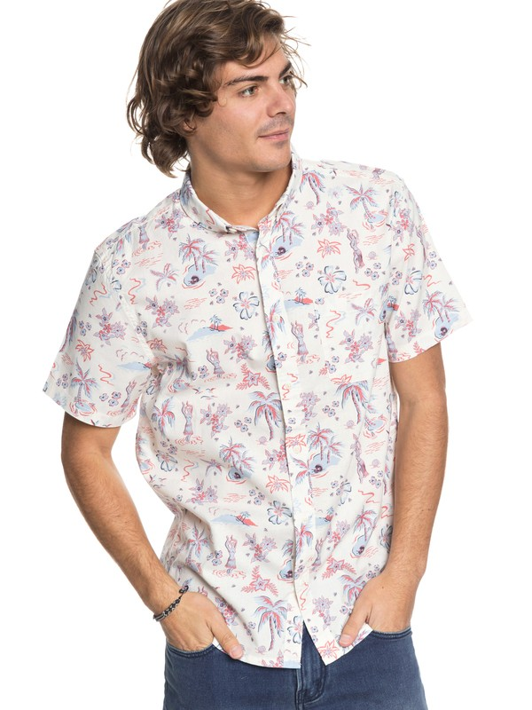 0 Black Hula - Short Sleeve Shirt White EQYWT03683 Quiksilver