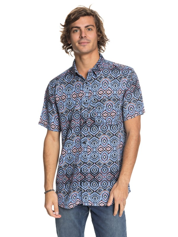 0 Fata Morgana Short Sleeve Shirt Blue EQYWT03688 Quiksilver