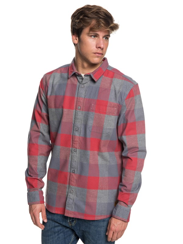 0 Stretch Flannel Long Sleeve Shirt Pink EQYWT03693 Quiksilver