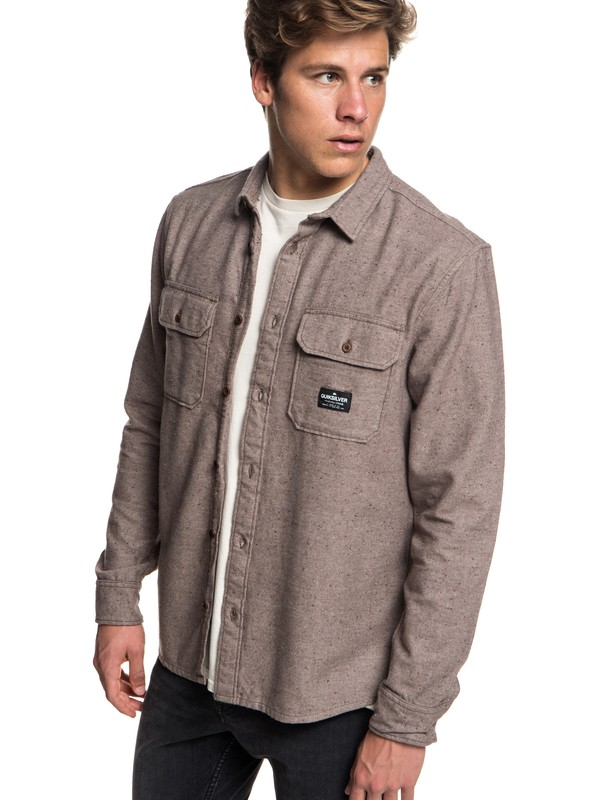 0 Riku Rock - Long Sleeve Shirt for Men Gray EQYWT03696 Quiksilver