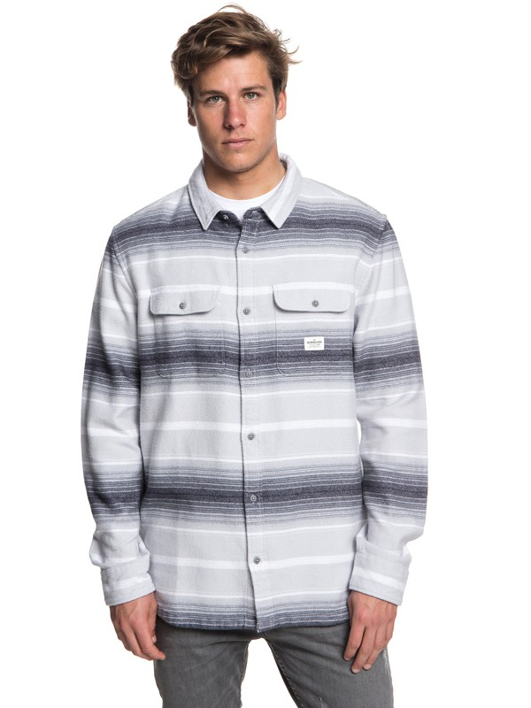 0 Kanagawa Long Sleeve Shirt Grey EQYWT03701 Quiksilver
