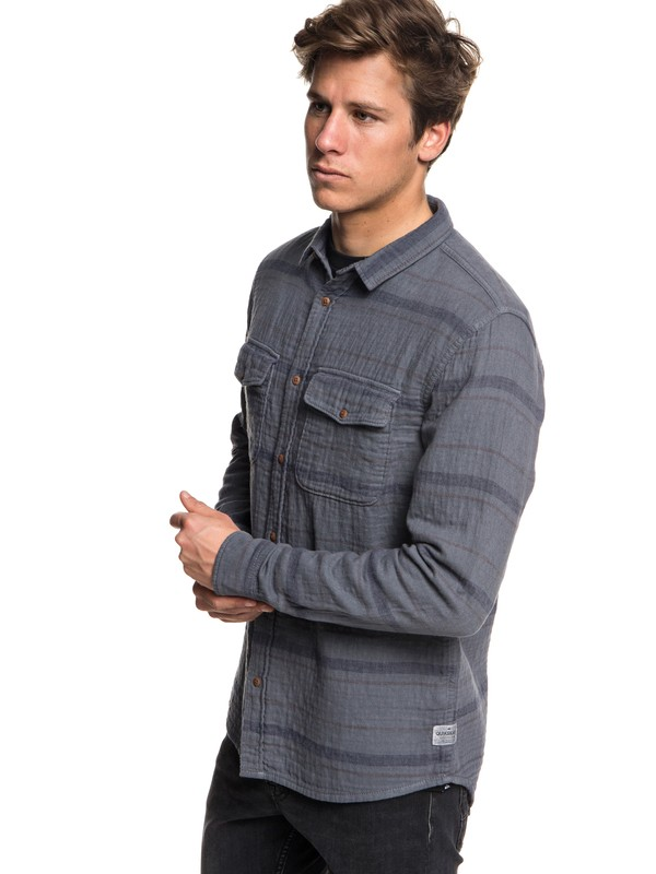 0 Men's Hamada Life Long Sleeve Shirt Black EQYWT03708 Quiksilver
