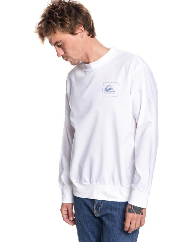 0 Sun Gaze Sweatshirt White EQYWT03710 Quiksilver