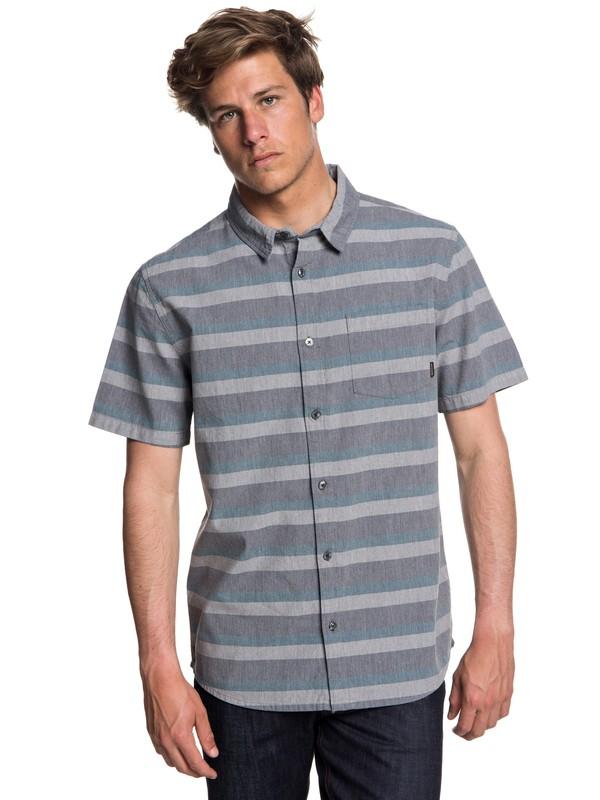 0 Men's Tama Kai Short Sleeve Shirt Blue EQYWT03713 Quiksilver